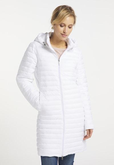 Usha Between-Seasons Coat in White, View model