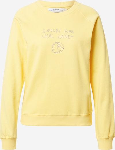 DEDICATED. Sweatshirt 'Local Planet' in gelb / grau, Produktansicht