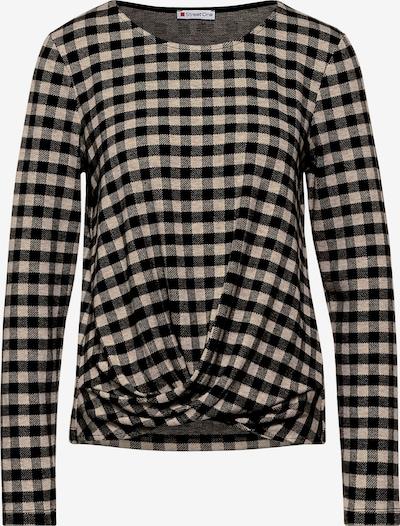 STREET ONE Shirt mit Vichy-Karo in creme / schwarz, Produktansicht