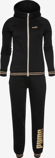 PUMA Trainingsanzug in gold / schwarz, Produktansicht