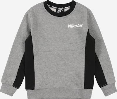 Nike Sportswear Sweatshirt in grau / schwarz / weiß, Produktansicht