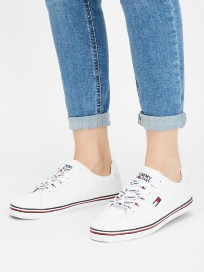 Sneaker low 'HAZEL 1D' Tommy Jeans pe alb: Privire frontală