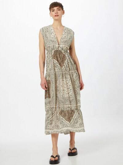 PINKO Kleid 'ABBRACCIAMI' in beige / braun / schwarz, Modelansicht