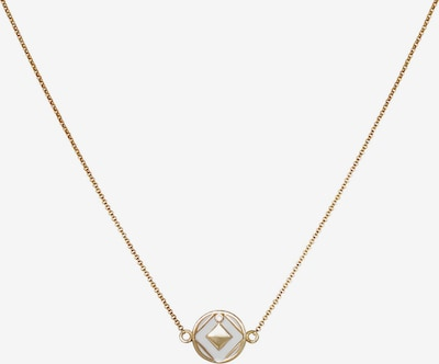 Zoccai Necklace in Gold / White, Item view