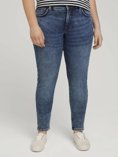 MY TRUE ME Jeans in de kleur Blauw denim, Modelweergave