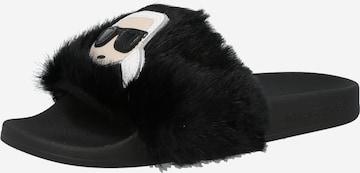 Karl Lagerfeld Plätu 'KONDO', värv must