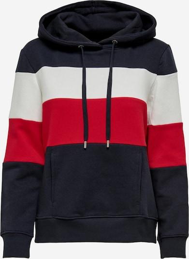 ONLY Sweatshirt in dunkelblau / rot / weiß, Produktansicht