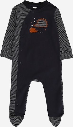 STACCATO Pyjama in dunkelblau / braun / weiß, Produktansicht