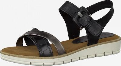 MARCO TOZZI Sandal i gyttjefärgad / svart, Produktvy