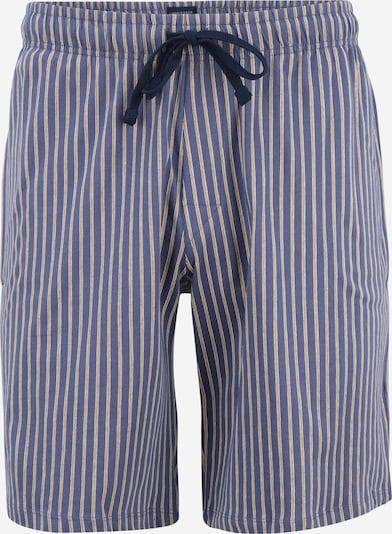 SCHIESSER Pyjamashorts in taubenblau / goldgelb / weiß, Produktansicht
