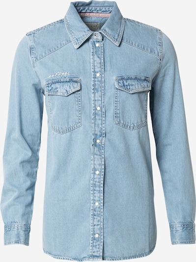 GUESS Bluse in blue denim, Produktansicht