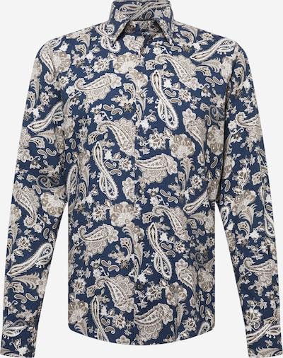 JOOP! Hemd 'Perros' in beige / navy / taupe, Produktansicht