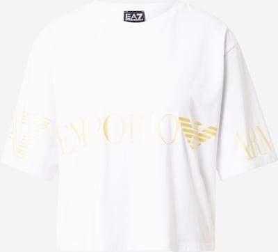 EA7 Emporio Armani T-Shirt in gold / weiß, Produktansicht