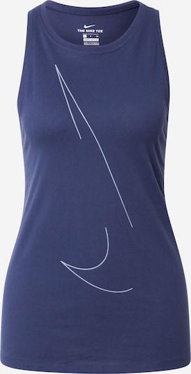 NIKE Sporttop 'Yoga' in violettblau / weiß, Produktansicht
