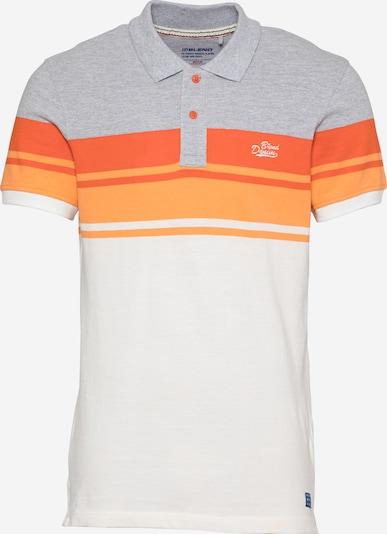 szürke melír / narancsvörös / fehér BLEND Póló, Termék nézet