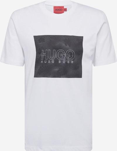 HUGO T-Shirt 'Dolive' in anthrazit / weiß, Produktansicht