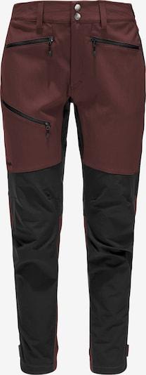 Haglöfs Outdoorbroek 'Rugged Flex' in de kleur Bourgogne / Zwart, Productweergave