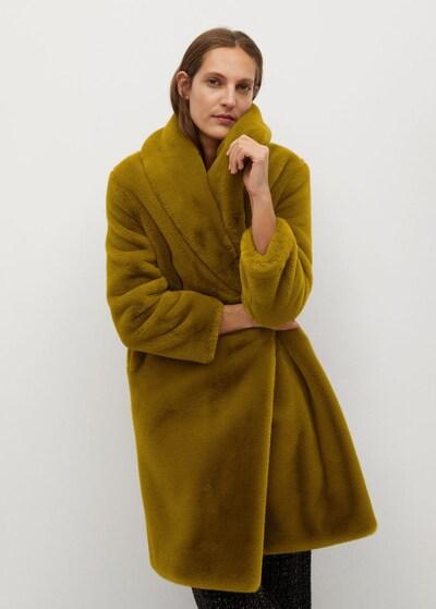 MANGO Mantel 'Chilly' in senf, Modelansicht