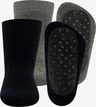 EWERS Chaussettes 'Stoppersocken Vollsohle Uni 2er Pack' en marine / gris, Vue avec produit