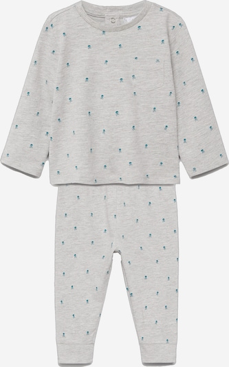 MANGO KIDS Pyžamo 'Jackb' - sivá melírovaná / petrolejová, Produkt