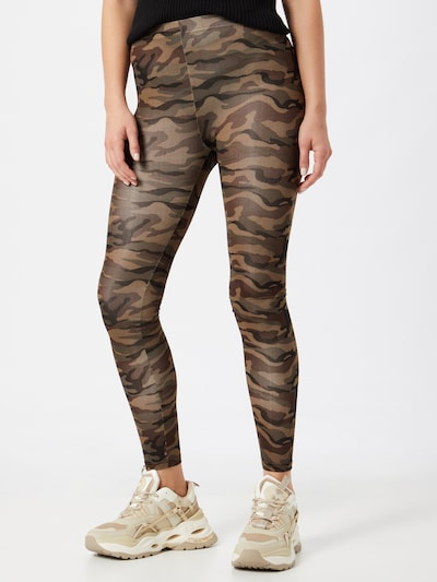 b.young Leggings 'Tanina' in braun / dunkelgrün / schwarz, Modelansicht