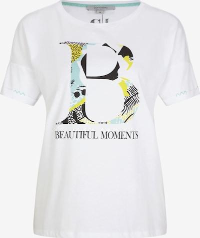 Ci comma casual identity T-Shirt in blau / gelb / schwarz / weiß, Produktansicht