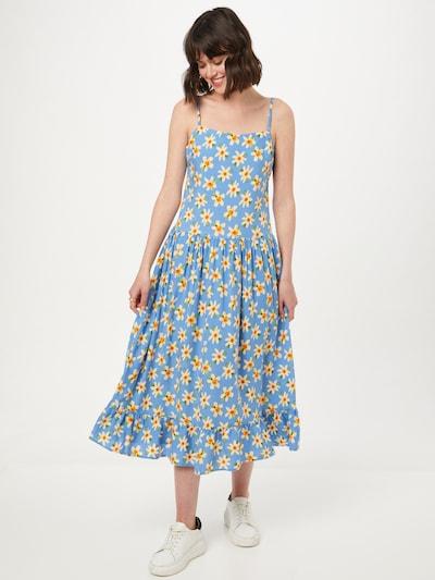 Rochie de vară Trendyol pe albastru fumuriu / galben / verde / portocaliu, Vizualizare model