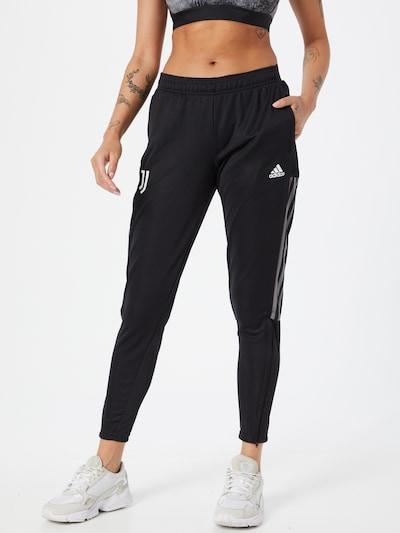 ADIDAS PERFORMANCE Sporthose 'JUVE' in schwarz / weiß, Modelansicht