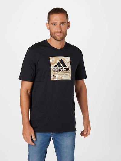 ADIDAS PERFORMANCE Функционална тениска в кафяво / капучино / черно: Изглед отпред