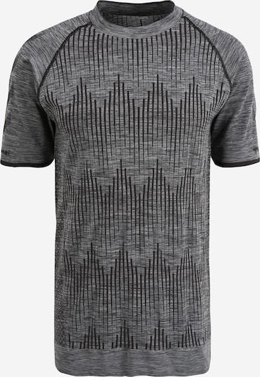Hummel Sport-Shirt 'Morten' in graumeliert / schwarz, Produktansicht