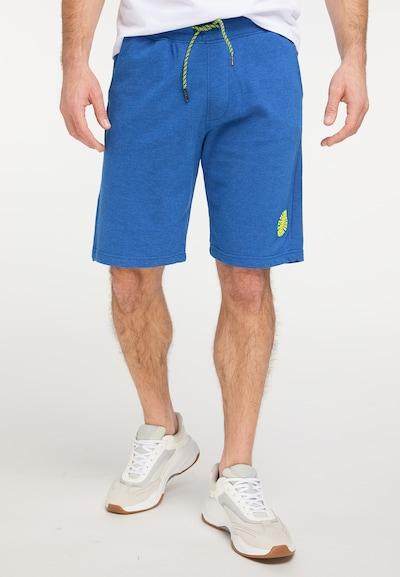 Petrol Industries Spodnie w kolorze królewski błękit / jasnozielonym, Podgląd na modelu(-ce)