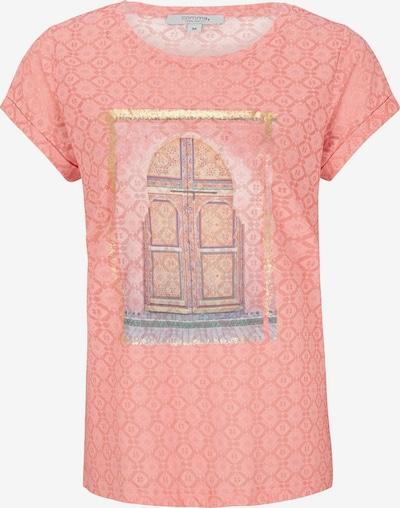COMMA Shirt in de kleur Gemengde kleuren / Sinaasappel, Productweergave