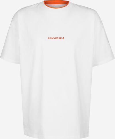 CONVERSE T-Shirt 'Neck Rib' in orange / weiß, Produktansicht