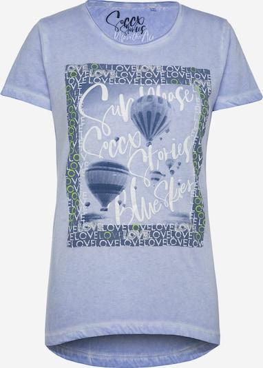 Soccx T-Shirt 'Glitter Artwork' in himmelblau, Produktansicht
