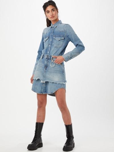 DIESEL Košulja haljina u plavi traper, Prikaz modela
