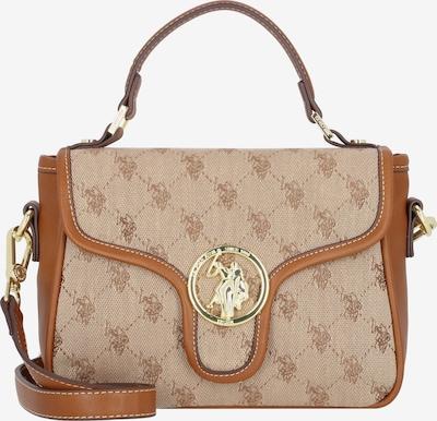 U.S. POLO ASSN. Handtasche in braun / hellbraun / gold, Produktansicht