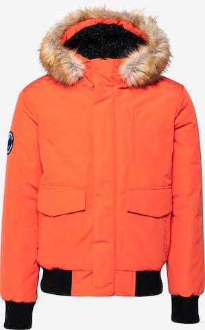 Superdry Talvitakki 'EVEREST' värissä oranssi