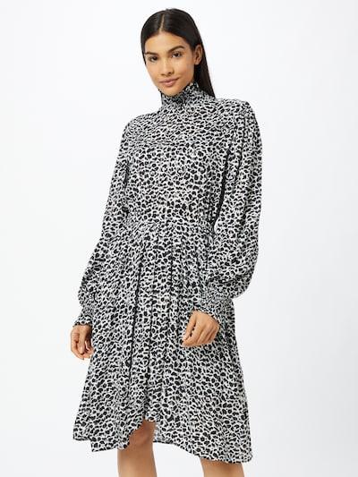 REPLAY Рокля тип риза в черно / бяло, Преглед на модела