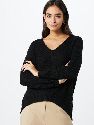 JACQUELINE de YONG Pullover 'Megan' in schwarz: Frontalansicht
