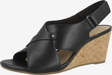 CLARKS Sandale 'Margee Eve' in Schwarz