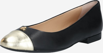 Balerini 'GAINES' Lauren Ralph Lauren pe auriu / negru, Vizualizare produs