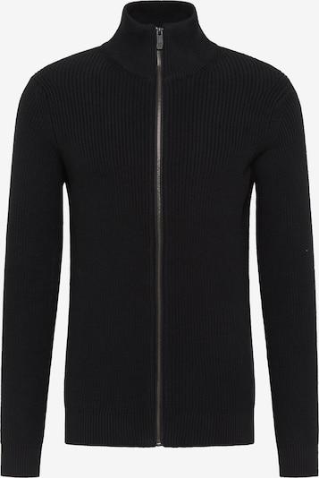 TUFFSKULL Vestes en maille en noir, Vue avec produit