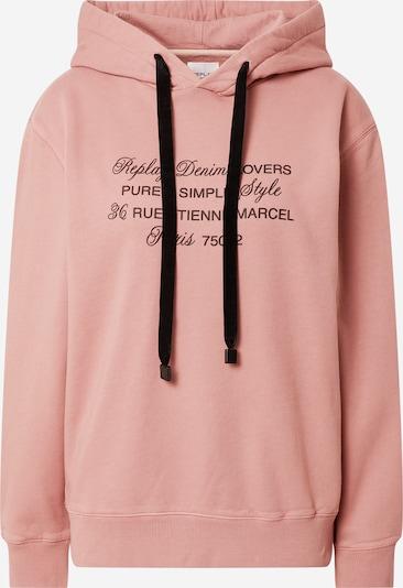 REPLAY Sweatshirt in rosé / schwarz, Produktansicht