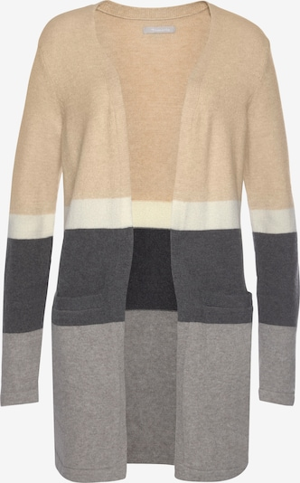 TAMARIS Knit Cardigan in Cream / Grey / Light grey / White, Item view