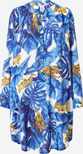 Emily Van Den Bergh Рокля тип риза в синьо / нейви синьо / кафяво / бяло, Преглед на продукта