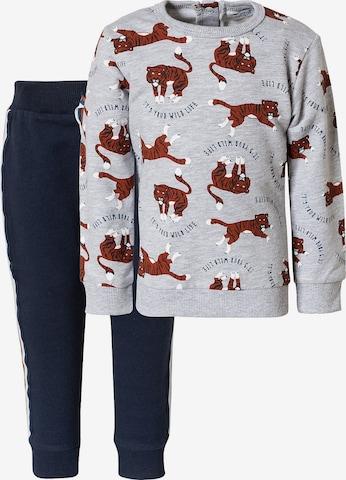 Dirkje Set: Sweatshirt + Sweathose in Grau