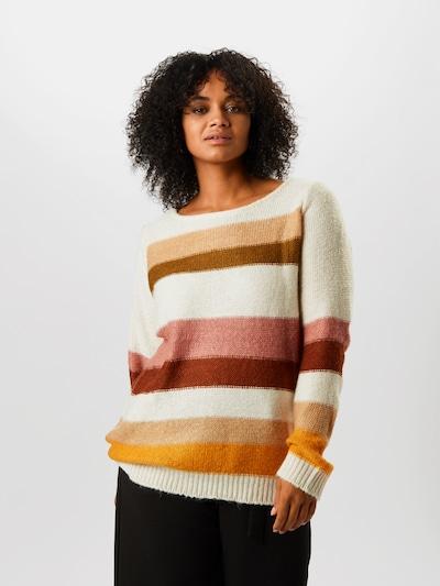Pullover 'Alyas' Junarose di colore colori misti / rosa / bianco: Vista frontale