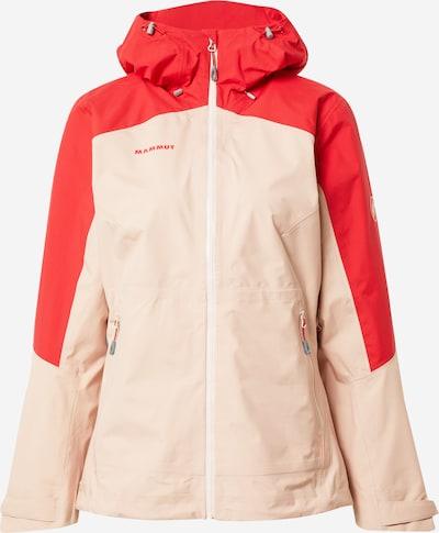 MAMMUT Zunanja jakna | kremna / ognjeno rdeča barva, Prikaz izdelka