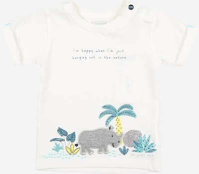 STACCATO T-Shirt in navy / türkis / limone / graumeliert / weiß, Produktansicht