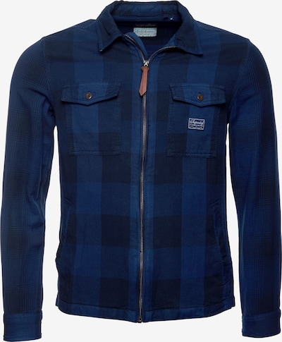 Superdry Tussenjas in de kleur Blauw, Productweergave